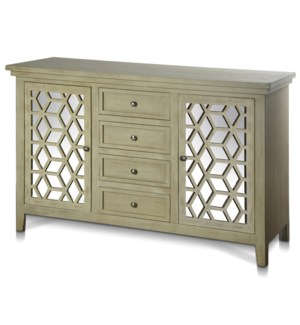 ASHTON CREDENZA | 58in w. X 36in ht. X 18in d. | Two Door Four Drawer Credenza made from Chinese Bir