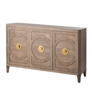 BROOKS SIDEBOARD | 64in w. X 37in ht. X 18in d. | Three Door Buffet Cabinet made of Straight Grain A