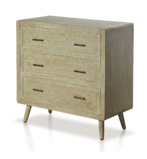 DANKO CHEST | 34in w. X 34in ht. X 16in d. | Three Drawer Chest in Paulonia Veneer and Wood Solids w