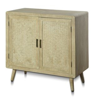DANKO CABINET | 34in w. X 34in ht. X 16in d. | Two Door Cabinet in Paulonia Veneer and Wood Solids w