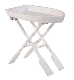 OAR ACCENT TABLE | 28in w. X 26in ht. X 16in d. | Row Boat Folding Tray made of Solid Fir Wood in An