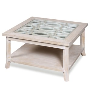 RAELYNN COCKTAIL TABLE | 32in w. X 18in ht. X 32in d. | Square Coffee Cocktail Table with Table Top
