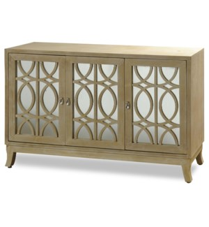 MADELINE SIDEBOARD | 54in w. X 34in ht. X 17in d. | Three Door Buffet Cabinet made of Straight Grain