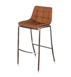 LIGHT TUFTS | 20in w X 41in ht X 22in d | Ochre Bar Stools with Stainless Steel Legs