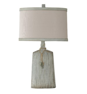 BONILLA POINT | Coatsal Casual Light Olive Textured Base Table Lamp with Decorative Pendant | 18in w