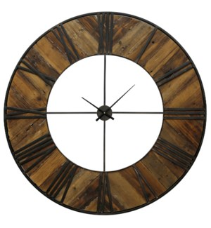 Metal & Wood Wall Clock | 47in X 47in