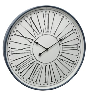 Metal & Glass Wall Clock | 32in X 32in
