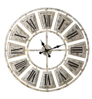 Antique Metal Wall Clock | 31in X 31in