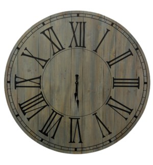Natural Wood Clock | 40in X 40in
