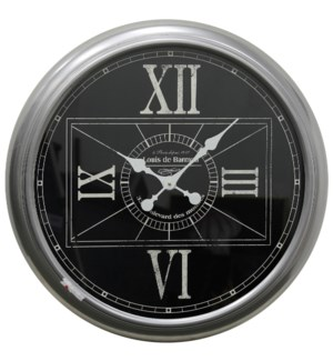Metal & Glass Wall Clock | 24in X 24in X 3in
