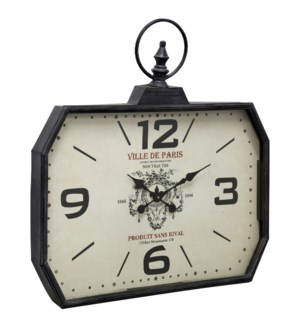 Metal & Glass Wall Clock | 29in X 28in X 3in