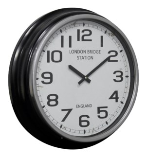 Metal & Glass Wall Clock | 19in X 19in X 4in