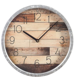 Metal & Glass Wall Clock | 14in X 14in X 2in