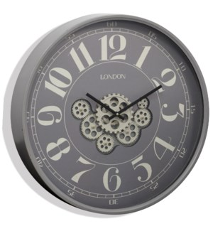 TIME IN MOTION | 23in w. X 23in ht. X 3in d. | Industrial Gear Movement Wall Clock
