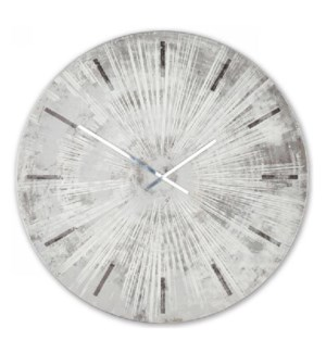 GRAY STAR | 36in w X 36in ht X 2in d | Metal and Wood Wall Clock
