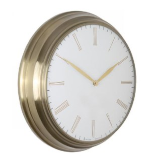 CHAMPAGNE | 19in w X 19in ht X 4in d | Metal Wall Clock