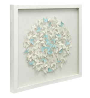 3 Dimensional Sculpture | Shadow Box with Glass | 24in X 24in X 2in