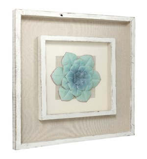 HELLO FRIEND | 22in w. X 22in ht. X 2in d. | Wood and Metal Botanical Shadowbox