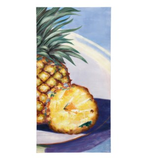 Pineapple Poolside Handpainted Canvas | 40in X 20in X 1in | Stretched Canvas