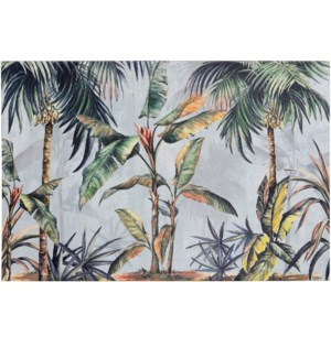 SOUTHERN PALMS | HAND EMBELLISHED | 24in X 36in | Dancing Palm Trees