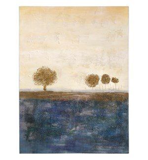 HORIZON FALLS   HAND PAINTED   40in X 30in   On The Horizon Golden Accent Landscape Canvas