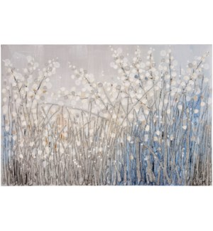 BABYS BREATH | HAND PAINTED | 32in X 47in | Baby Breath Abstract Hand Painted Canvas