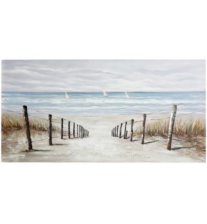DUNE WAY | HAND PAINTED | 28in X 55in | A Walk Through The Dunes Hand Painted Canvas
