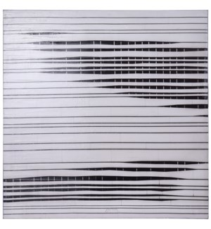NEWSPAPER PRINT | 40in w. X 40in ht. | Printed Abstract Glossy Canvas