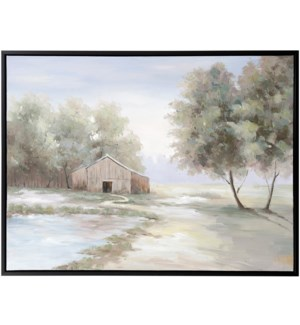 TO GRANDMOTHERS HOUSE WE GO | 36in w. X 48in ht. | Framed Hand Painted Farmhouse Canvas