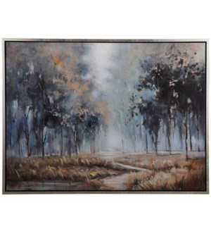 PATH TO RIGHTEOUSNESS | 36in w. X 48in ht. | Framed Landscape Hand Painted Art on Canvas