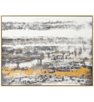INTO THE NIGHT | 48in w. X 37in ht. | Framed Abstract Oil Painting on Canvas