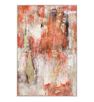 ARABESQUE | 37in w. X 57in ht. X 2in d. | Framed Abstract Oil Painting on Canvas
