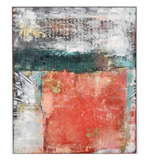 OCEAN ABYSS | 41in w. X 49in ht. X 2in d. | Framed multi Medium Abstract Painting on Canvas