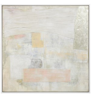 PERFECTLY PASTEL | 49in w. X 49in ht. X 2in d. | Framed Textured Painting on Canvas