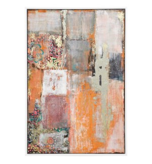 SUNNY DISPOSITION | 33in w. X 49in ht. X 2in d. | Framed Multi Medium Abstract Painting on Canvas