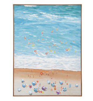 SPRING BREAK  | 36in w. X 48in ht. X 2in d. | Textured Framed Coastal Painting