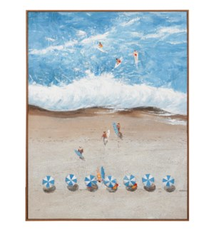SPRING BREAK II | 36in w. X 48in ht. X 2in d. | Textured Framed Coastal Painting