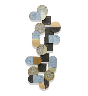 Mutli Colored Abstract Metal Art | 18in X 47in X 2in | Metal Art