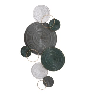 RINGS OF ALLOY | 20in X 35in | Metal Wall Art
