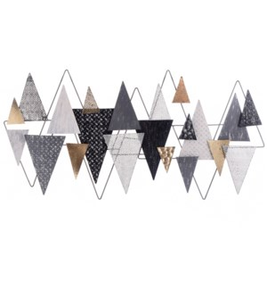 GEOMETRIC GALA | 24in X 48in | Metal Wall Art