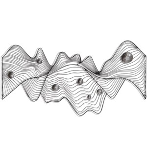 MODERN WAVES | 28in X 53in | Metal Wall Art