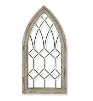 CATHEDRAL ARCH | 24in w. X 48in ht. X 2in d. | Metal and Wood Arch Wall Decor