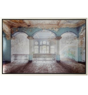 PLEASING PALACE | 36in w. X 24in ht. X 2in d. | Metal Framed Architectural Print