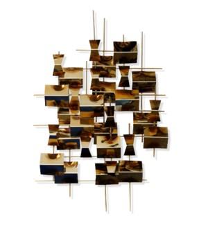 COPPER REFLECTION   Metal Wall Sculpture   25in w X 37in ht X 4in d