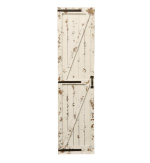 Weathered White   Traditional Farmhouse Barn Door   Leaner or Wall Art