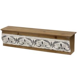 Metal & Wood Wall Shelf   29in X 8 in
