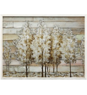 WOODEN GROVE | 30in X 40in | Wooden Grove Hand Painted Art