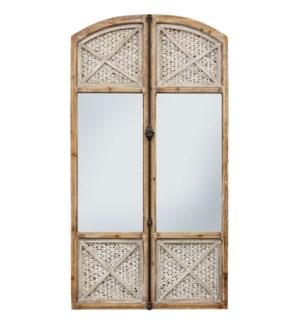 GATES TO THE GARDEN | 32in w. X 60in ht. X 2in d. | Architectural Wooden Wall Mirror