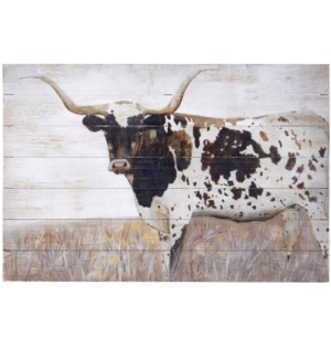 STEER CLEAR | 36in w. X 24in ht. | Farmhouse Wood Wall Decor