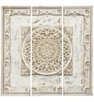 MEDAL OF HONOR | 37in w. X 37in ht. X 2in d. | Set of Three Wooden Panel Architectural Wall Decor